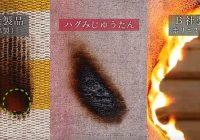 3つの素材の燃焼実験