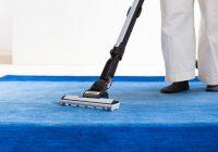 ハグみじゅうたんを掃除機掛けしている様子