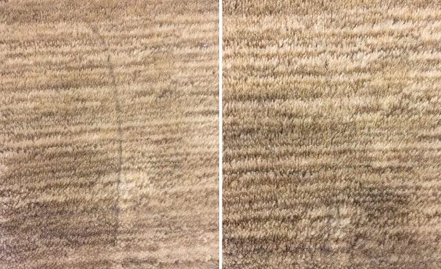 絨毯に油性ペンで落書き Before After