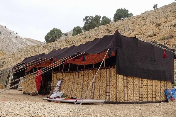 イランの遊牧民のテント
