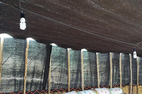 イランの遊牧民のテントの屋根