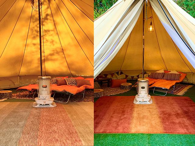 【グランピング施設】フローラキャンプサイト様 テント内 ER6175・ER6169
