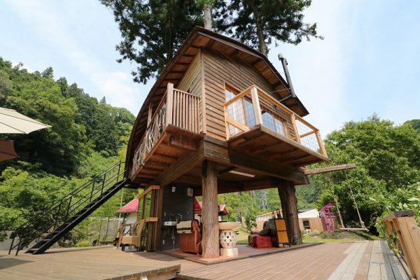 【グランピング施設】ウッドデザインパーク様 ツリーハウス